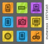 electronics web icons color... | Shutterstock .eps vector #155714165