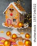 homemade christmas gingerbread... | Shutterstock . vector #1557146522