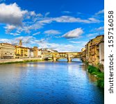 Ponte Vecchio On Sunset  Old...