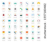 web communication icons set ... | Shutterstock .eps vector #1557183482