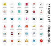 real estate icons  commercial... | Shutterstock .eps vector #1557183512