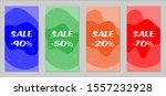 sale flyers. set of vintage...   Shutterstock .eps vector #1557232928