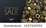new year sale special offer... | Shutterstock .eps vector #1557245555