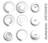 halftone dots in circle form.... | Shutterstock .eps vector #1557254372