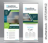 roll up business brochure flyer ... | Shutterstock .eps vector #1557254912