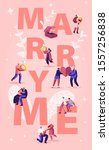marry me concept. men making... | Shutterstock .eps vector #1557256838