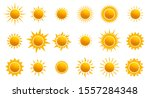 big set of realistic sun icon... | Shutterstock .eps vector #1557284348