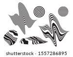 simple vector distorted linear... | Shutterstock .eps vector #1557286895