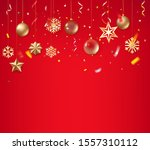 christmas background with... | Shutterstock .eps vector #1557310112