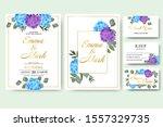 wedding floral invitation card...   Shutterstock .eps vector #1557329735