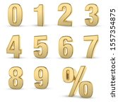 3d rendered golden numbers... | Shutterstock . vector #1557354875