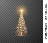 shiny christmas tree with... | Shutterstock .eps vector #1557367502