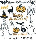 childish doodle halloween set | Shutterstock .eps vector #155736902