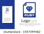 blue ruby file document.... | Shutterstock .eps vector #1557399482