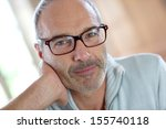 50 year old attractive man with ... | Shutterstock . vector #155740118