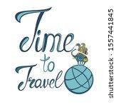 travel set icon. handwritten... | Shutterstock .eps vector #1557441845