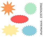 starburst and sunburst icon set ... | Shutterstock .eps vector #1557453902