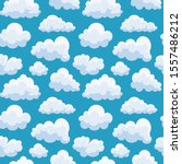 clouds sky seamless pattern in... | Shutterstock .eps vector #1557486212