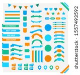 set of colorful labels and... | Shutterstock .eps vector #1557493592