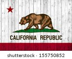 california  flag  wood... | Shutterstock . vector #155750852