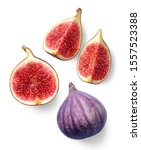 Fresh Whole And Sliced Fig...