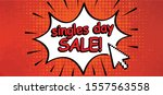 comic cartoon single singles... | Shutterstock .eps vector #1557563558