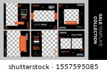 sale template collection for... | Shutterstock .eps vector #1557595085