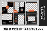 sale template collection for... | Shutterstock .eps vector #1557595088