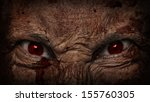 demonic ugly face looking at you | Shutterstock . vector #155760305