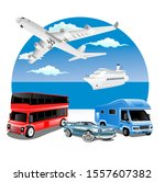 logistics  business concept... | Shutterstock .eps vector #1557607382