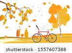 yellow colorfull autumn... | Shutterstock .eps vector #1557607388