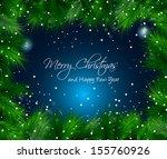 elegant christmas themed frame... | Shutterstock . vector #155760926