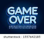 vector neon sign game over.... | Shutterstock .eps vector #1557642185
