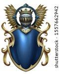 Fantasy Heraldic Blue And Gold...