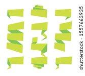 folded ribbon banner set.... | Shutterstock .eps vector #1557663935