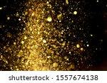 golden glitter bokeh lighting...   Shutterstock . vector #1557674138