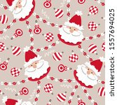 vector seamless pattern with... | Shutterstock .eps vector #1557694025