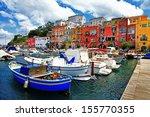 colorful italy   procida island | Shutterstock . vector #155770355