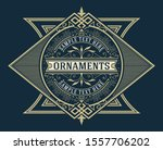 antique label with floral... | Shutterstock .eps vector #1557706202