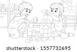 vector illustration  children... | Shutterstock .eps vector #1557732695