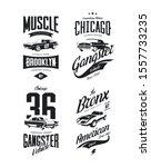 vintage classic gangster ... | Shutterstock .eps vector #1557733235
