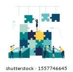 business concept team metaphor. ... | Shutterstock .eps vector #1557746645