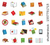 library books vector cartoon...