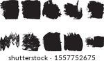 set of vector grunge brushes.... | Shutterstock .eps vector #1557752675