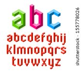 isometric graphics 3d font.... | Shutterstock .eps vector #155778026