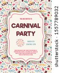 carnival party   colorful... | Shutterstock .eps vector #1557789032