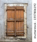 Old Stone Framed Window And...