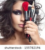 closeup portrait of attractive  ... | Shutterstock . vector #155782196