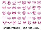 set emoticon for animation face ... | Shutterstock .eps vector #1557853802