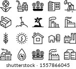 plant vector icon set such as ...   Shutterstock .eps vector #1557866045